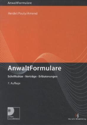 AnwaltFormulare, m. CD-ROM
