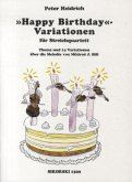 Happy Birthday - Variationen, für Streichquartett, Partitur und Stimmen