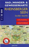 Rad-, Wander- & Gewässerkarte Rheinsberger Seen, Gr. Stechlin