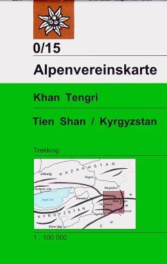 Alpenvereinskarte Khan Tengri, Tien Shan, Kyrgy...