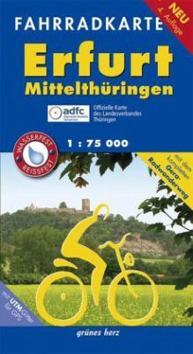 Fahrradkarte Erfurt, Mittelthüringen