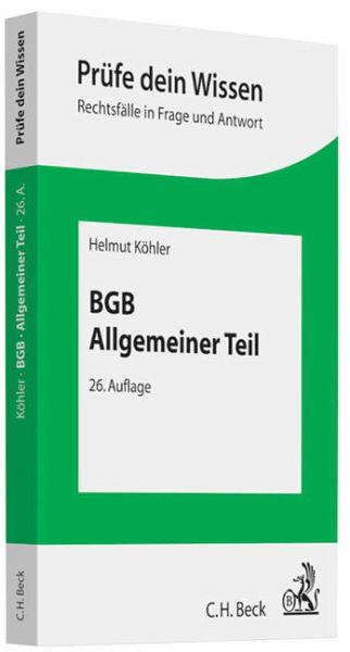 BGB, Allgemeiner Teil - Köhler, Helmut