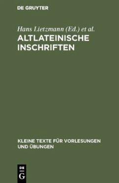 Altlateinische Inschriften - Altlateinische Inschriften
