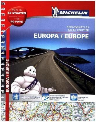 michelin strassenatlas europa michelin atlas routier europe. Black Bedroom Furniture Sets. Home Design Ideas