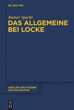 Das Allgemeine bei Locke - Specht, Rainer