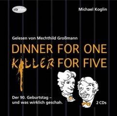 Dinner for One - Killer for Five, 2 Audio-CDs - Koglin, Michael