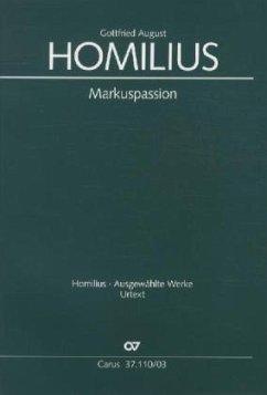 Markuspassion, Klavierauszug - Homilius, Gottfried August