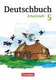 Deutschbuch 5. Schuljahr Gymnasium. Arbeitsheft mit Lösungen. Östliche Bundesländer und Berlin