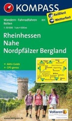 Kompass Karte Rheinhessen, Nahe, Nordpfälzer Be...
