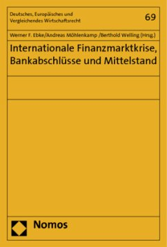 Internationale Finanzmarktkrise, Bankabschlüsse und Mittelstand