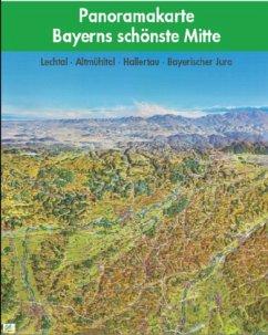 Panoramakarte Bayerns schönste Mitte, plano