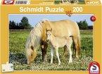 Schmidt Spiele 56007 - Stute mit Fohlen, 200 Teile
