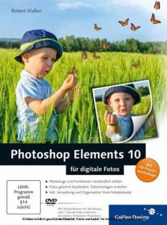 Photoshop Elements 10 für digitale Fotos, m. DVD-ROM - Klaßen, Robert