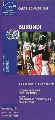 IGN Karte, Carte touristique Burundi