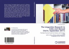 The Linguistics Research in India and Abroad (Vol-II, September 2011)