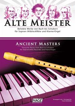 Alte Meister, für Sopran-/Altblockflöte und Klavier/Orgel