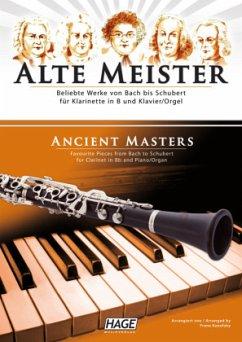Alte Meister, für Klarinette in B und Klavier/Orgel