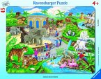 Ravensburger 06661 - Besuch im Zoo, 45 Teile Rahmenpuzzle