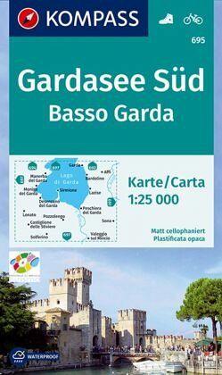 Karte Gardasee Lazise.Kompass Wanderkarte Gardasee Süd Basso Garda