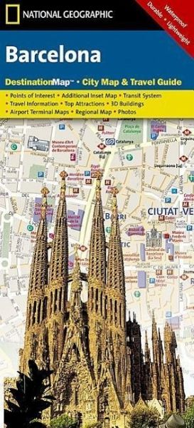 National Geographic DestinationMap Barcelona von National Geographic ...