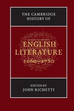 The Cambridge History of English Literature, 1660-1780