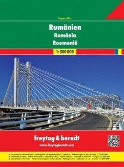 Freytag & Berndt Atlas Rumänien - Moldawien, Autoatlas 1:300.000; Superatlas Romania; Superatlas Roemenie; Superatlas Ro