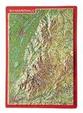 Reliefpostkarte Schwarzwald