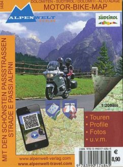 Dolomiten - Südtirol, Motor-Bike-Map; Dolomiti - Alto Adige, Motor-Bike-Map
