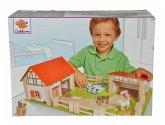 Eichhorn 100004308 - Holz-Bauernhof, 25-teilig mit 12 Spielfiguren