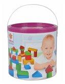 Heros 100050401 - Holzbausteine Baby-Box, 50-teilig in Trommel