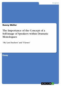 The Importance of the Concept of a Self-image of Speakers within Dramatic Monologues