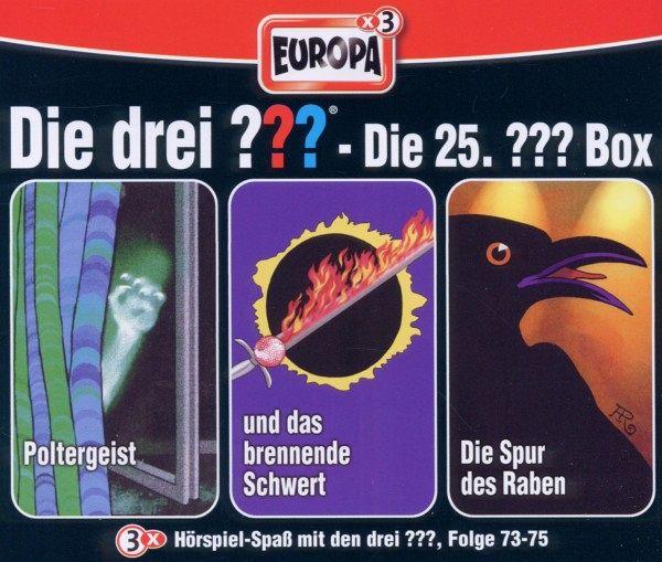 die drei fragezeichen folgen 73 75 die drei fragezeichen box 25 3 audio cds von alfred. Black Bedroom Furniture Sets. Home Design Ideas