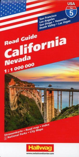 California, Nevada Straßenkarte 1:1 Mio., Road Guide Nr. 5