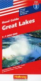 Hallwag USA Road Guide Great Lakes