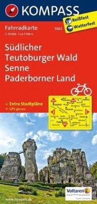 Kompass Fahrradkarte Südlicher Teutoburger Wald...