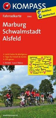 Kompass Fahrradkarte Marburg, Schwalmstadt, Als...