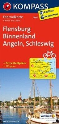 Kompass Fahrradkarte Flensburg Binnenland, Ange...