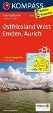 KOMPASS Fahrradkarte Ostfriesland West, Emden, Aurich / Kompass Fahrradkarten