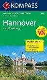 Kompass Karte Hannover und Umgebung, 2 Bl. m. Kompass Naturführer Wiesenblumen