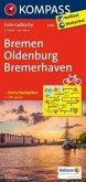 Kompass Fahrradkarte Bremen, Oldenburg, Bremerhaven / Kompass Fahrradkarten