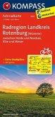 Kompass Fahrradkarte Radregion Landkreis Rotenburg (Wümme) zwischen Heide und Nordsee, Elbe und Weser / Kompass Fahrradkarten