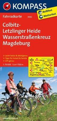 Kompass Fahrradkarte Colbitz, Letzlinger Heide,...