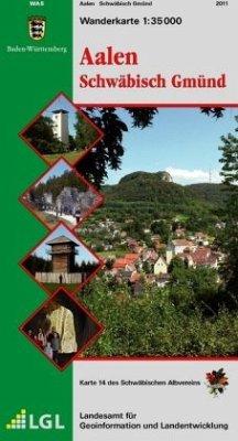 Topographische Wanderkarte Baden-Württemberg Aa...