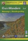 Topographische Karte Rheinland-Pfalz RheinWandern Süd