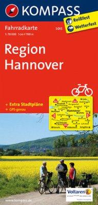 Kompass Fahrradkarte Region Hannover / Kompass Fahrradkarten