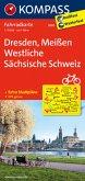 Kompass Fahrradkarte Dresden, Meißen, Westliche Sächsische Schweiz / Kompass Fahrradkarten