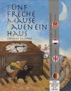 Fünf freche Mäuse bauen ein Haus (Buch mit DVD) - Tashiro, Chisato