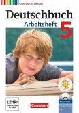 Deutschbuch 5. Schuljahr. Arbeitsheft mit Lösungen und Übungs-CD-ROM. Gymnasium Hessen