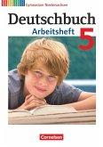 Deutschbuch 5. Schuljahr. Arbeitsheft mit Lösungen. Gymnasium Niedersachsen
