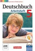 Deutschbuch 5. Schuljahr. Arbeitsheft mit Lösungen und Übungs-CD-ROM. Gymnasium Niedersachsen